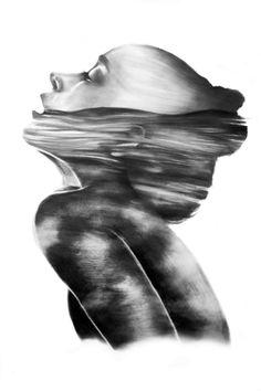 """Dissolve // Illustration"" Art Print by PaperInk on Society6."
