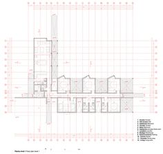 Planta 1º Piso Prefab Modular Homes, Modular Housing, In Plan, How To Plan, Residential Architecture, Diagram, Floor Plans, Layout, Gallery