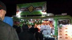 Waffle Truck Waffle Cakes decorated for Christmas at the Longmont Lights Event 2012!  #wafflecakesfoodtruck  #wafflecakes  #wafflefoodtruck  #waffletruck  #eatstreet #foodtruckevents