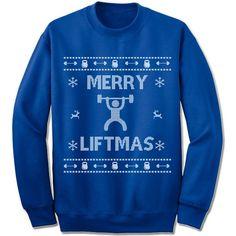 Merry Liftmas Ugly Christmas Sweater.