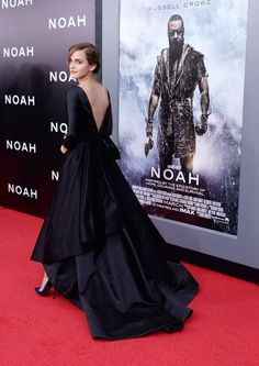 "Emma Watson at the New York premiere of Paramount Pictures' ""Noah."" Photo: Getty Images Oscar De la Renta"