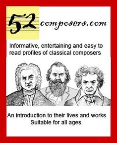 Classical composers in a nutshell - most have facts plus some kind of youtube video of a performance of their music to link to.