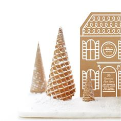 """Baumbirdy """"gingerbread home for the holidays"""" for minted"""