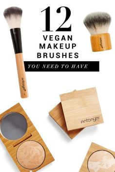 Antonym Cosmetics ensures their brushes are gentle on the skin and precise in makeup application – guaranteeing that your skin will look and feel it's best. These 12 vegan, eco-friendly brushes from French-born makeup artist Valerie Giraud are everything you need—and nothing you don't. #veganmakeup #veganmakeupbrushes