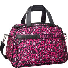 Loungefly Hello Kitty Pink Leopard Print Duffle - eBags.com