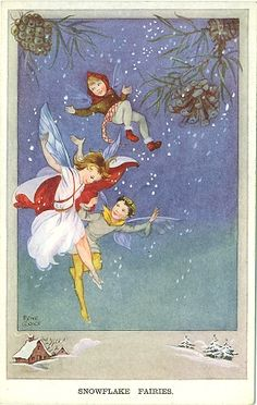 Snowflake Fairies from March House Books Blog: Rene Cloke postcards
