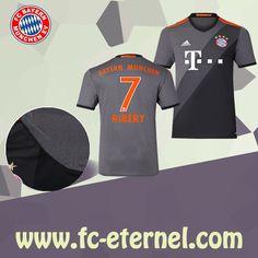 fc-eternel:Maillot Bayern Munich RIBERY 7 Exterieur 2016/2017 Flocage Maillot Bayern Munich, Lewandowski, Football, Sports, Flocking, Baby Born, Woman, Soccer, Hs Sports