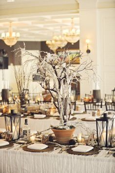 Frosted Branch Centerpieces