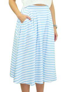 JOA Stripe Skirt