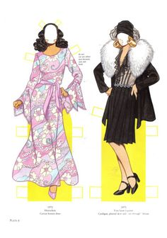 Great Fashion Design of the 70s Paper Dolls - Yakira Chandrani - Picasa Web Albums
