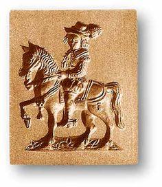 Springerle mold: Knight on horse back, www.springerle.com - Details zu Artikel 7370