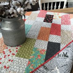 lap quilt or a large table runner you decide either way sew cute