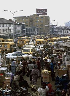 Crowded street - lagos, Lagos