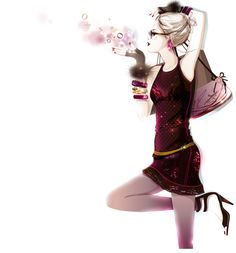Bree Leman pink Fashion illustration
