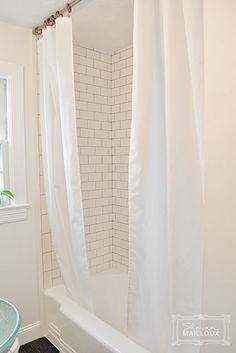 Double Shower Curtain Liner