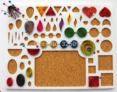 New Arrival cheap paper quilling Tool workboard with beading pins and paper set diy flower templated corkboard free shipping: