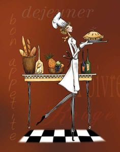 Sassy Chef I Poster by Mara Kinsley at Barewalls.com