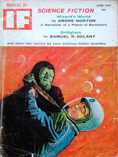 Worlds of IF Science Fiction Magazine, June 1967 #bookcover #retro #illustration