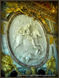 """Do an art walk of the beautiful palace of Versailles, Paris.  Find out more at """"Down the Wrabbit Hole - The Travel Bucket List"""". Click the image for the blog post."""