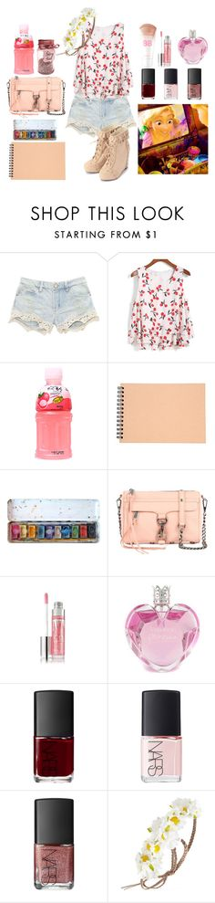 """""""I'll paint the walls some more"""" by glitter-and-mermaids ❤ liked on Polyvore featuring Muji, Rebecca Minkoff, Maybelline, Vera Wang, NARS Cosmetics, Forever 21 and thefourseasons"""