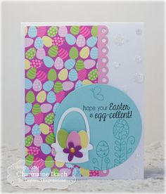 Egg-cellent Card by Charmaine Ikach #Cardmaking, #TEMatched, #Easter, #ShareJoy, #TE