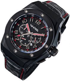 Perfekt! TW Steel 4009 Ceo Tech Chronograph Herrenuhr Lederarmband TW Steel 45043