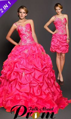 Elegant one shoulder beading convertible ball gown TAP0173 [TAP0173] - $217.00 : TalkAboutProm, Cheap Prom Dresses 2012~2013 - Formal, Cocktail & Prom Gowns