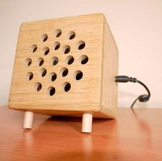DIY Wooden Office Fan and Heater- or cute speaker box...