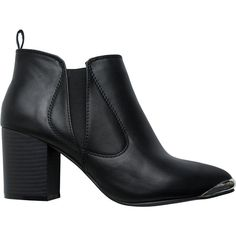Casey Heeled Bootie (985 RUB) ❤ liked on Polyvore featuring shoes, boots, ankle booties, black, high heel ankle boots, pointy toe ankle boots, pointed toe ankle boots, short black boots and high heel booties