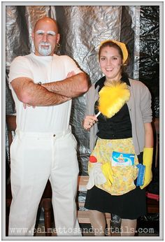 Mr. Clean and Molly Maid: 13 DIY Halloween Costumes for Couples from Palmettos and Pigtails