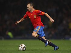 Andrés Iniesta Luján is a Spanish professional footballer who plays for Spanish club FC Barcelona and the Spain national team as a central midfielder.