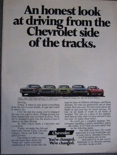 1971 Chevrolet Advertisement with 1971 Corvette 3 page