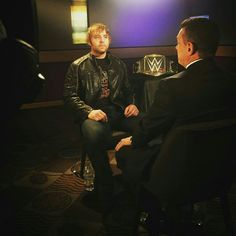 WWE World Heavyweight Champion Dean Ambrose speaks with Michael Cole.