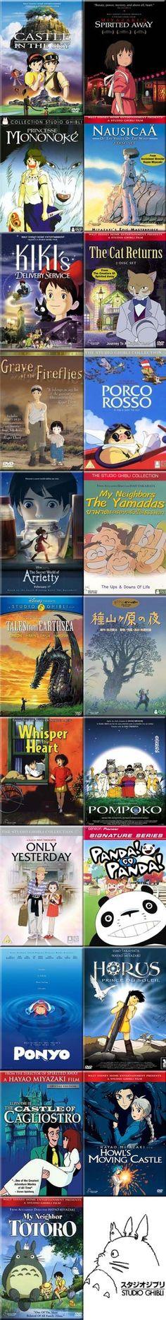 Danh sách dài những bộ phim của Ghibli Studio: Có thể ta chưa xem hết.  21 bộ phim đáng xem của Ghibli  @Facebook: Blog hình ảnh Ghibli đẹp