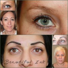 Semi permanent makeup, eyeliner and lash definer.  A mix of fresh and healed photos