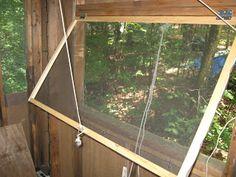 treehouse screen windows; keep away all those gnats!