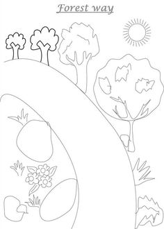 Road To Forest Coloring Page : Coloring Sky Forest Coloring Pages, Coloring Pages For Kids, Online Coloring, Coloring Sheets, Kids Rugs, Sky, Heaven, Coloring Pages For Boys, Colouring Sheets