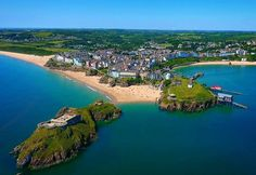 A summertime view of Tenby by Keiran Davies Cymru, Cardiff, South Wales, Great Britain, Summertime, Places To Go, Beautiful Places, England, River