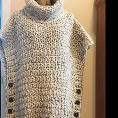 Discover thousands of images about CROCHET Pattern Aura Pullover 2 Poncho Au Crochet, Crochet Jacket, Crochet Blouse, Love Crochet, Knit Crochet, Poncho Pullover, Crochet Phone Cover, Velvet Acorn, Knitting Patterns