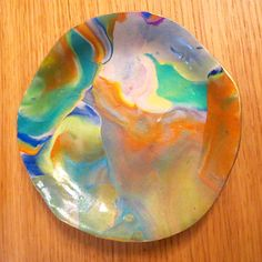 Faux geode marbled polymer clay jewelry dish by HistoriaAnimalium on Etsy