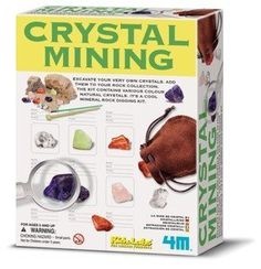 4M Crystal Mining Kit. A gift idea - toys for 5 year old boys. Read more at http://www.toys-zone.com/4m-crystal-mining-kit/