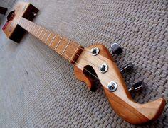 Bizarre Fretted 3 string acoustic Electric cigar box guitar by Muddy BluesBox Guitars http://www.ebay.com/itm/-/182061564144?