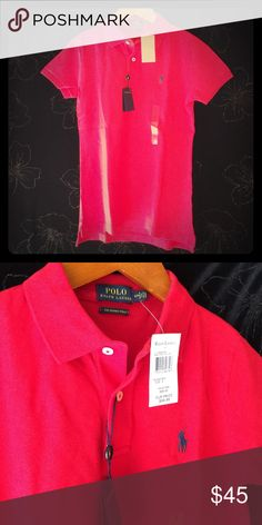 🌎RALPH LAUREN sport shirt Brand New with tag. This skinny polo is Made in Peru. Polo by Ralph Lauren Tops