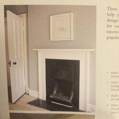 Farrow & Ball - Lamp Room Grey Eggshell for fireplace