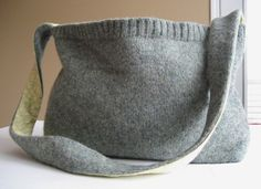 Felted Wool Messenger Bag via Etsy