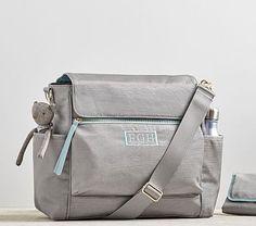 """Gray/Aqua """"The Ultimate"""" Diaper Bag #pbkids"""