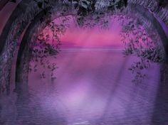 Beautiful purple gate