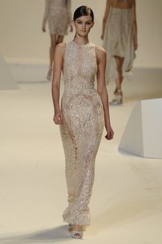 nearly white gowns perfect for the wedding Fashion Week inspiration Elie Saab 4