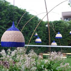 The Design Files Open House- Lightly rattan lights