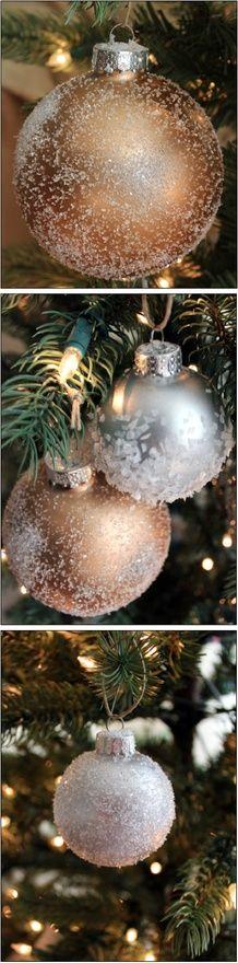 Sparkling DIY Christmas ornaments
